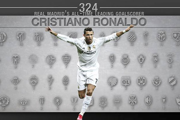 Cristiano Ronaldo, máximo goleador de la historia del Real Madrid