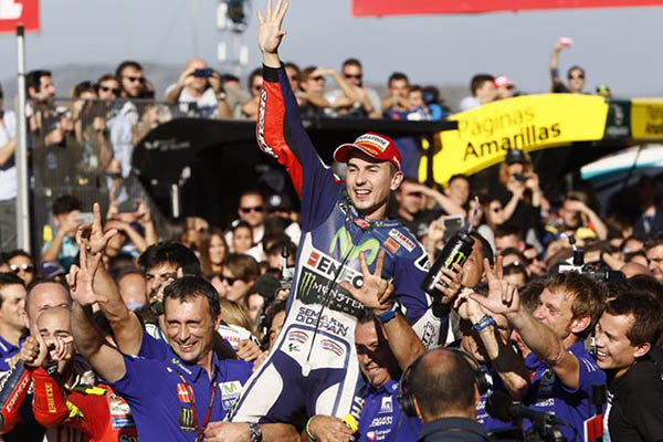Jorge Lorenzo, campeón del mundo de Moto GP 2015.