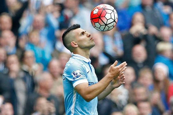 Kun Agüero, cinco goles como cinco soles